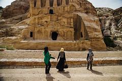 Tourists at Obelisk Tomb & Bab As-Siq Triclinium, Petra, Jordan (Seven Seconds Before Sunrise) Tags: travel landscape asia petra middleeast hijab tourist unescoworldheritagesite jordan dirt obelisk obelisktomb obelisktombbabassiqtriclinium