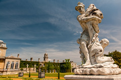 Statue at Wrest Park (TheSpaceWalker) Tags: uk england english statue photography photo nikon bedfordshire pic clocktower 1750 polarizer tamron cpl d300 wrestpark engishheritage thespacewalker