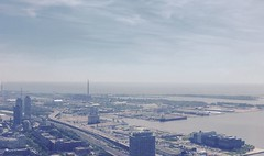 View to the East (@ThetaState) Tags: sky toronto ontario canada weather june afternoon cloudy sunny lakeontario hazy innerharbour 2015 gardinerexpresswayeast