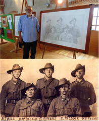 Art exhibition in Italy using my photo (Aussie~mobs) Tags: art sergiobollani italy artist soldiers drawing honour commemorate centenary ww1 military 31stbattalion aif anzac exhibition lestweforget aussiemobs