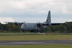 Canforce Hercules (FuriousGM) Tags: canada flying airport flight aeroplane landing lockheed runway hercules prestwick pik 601 cc130 egpk 130601