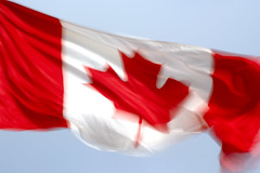 Happy Canada Day! (Ian Muttoo) Tags: ontario canada motion blur flag gimp motionblur canadaday mississauga canadaflag ufraw dsc22131edit