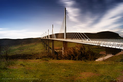 Viaduc de Millau (France) (Bruno E. Photography) Tags: bridge orange nature jaune canon eos lumire pont nuages millau viaduc