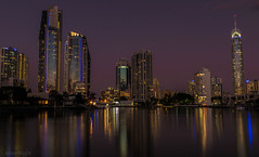 The Twilight Zone (jenni 101) Tags: longexposure reflections skyscrapers nightshot towers australia qld surfersparadise hirise goldcoast nikond3300