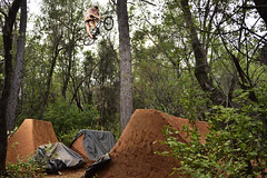 Marcus Obrien table (Garrett Meyers) Tags: california sports forest woods bmx day photographer northwest marcus action aaron trails bikes garrett dirt obrien northern redding jumps meyers bentley garrettmeyers bmxtrails reddingphotographer