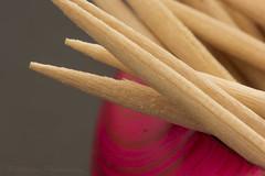 Toothpicks in a bangle (Akhyâna) Tags: wood pink toothpicks bangle