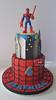 Spiderman for Jeremiah (Cake Diane Custom Cake Studio (eyedewcakes)) Tags: birthday boy cake toy cityscape child web spiderman superhero fondant tiered