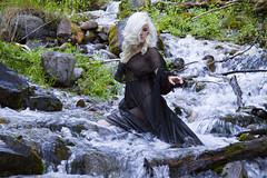 Jessi (austinspace) Tags: portrait woman creek forest nude waterfall washington spokane dress waikiki blond springs