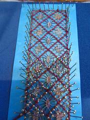 Bobbin Lace (guzzisue) Tags: you lace x hank bobbinlace bobbins lacemaking bobbinlacemaking handmadelace