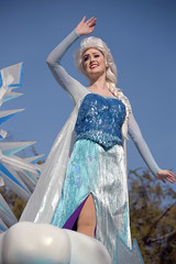 "Elsa in ""A Christmas Fantasy"" Parade at Disneyland (GMLSKIS) Tags: disney california amusementpark anaheim disneyland achristmasfantasy parade elsa"