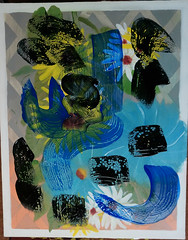 (collaboration) (William Keckler) Tags: yes painting mixedmedia abstract collaboration thriftstore