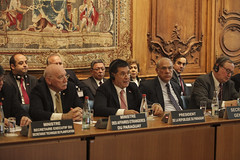 Horacio Cartes, President of the Republic of Paraguay, at the OECD (Organisation for Economic Co-operation and Develop) Tags: oecd angel gurria secretary general horacio cartes president republic paraguay paris france