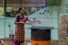 Smniley Dosa (Ivon Murugesan) Tags: 2016 people women travel places letsexplore rural exploration cooking chef india outdoor smile smiley laugh shy natgeoyourshot natgeo dailyshot flickrtravelaward