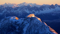 Alps from Zugspitze (José Rambaud) Tags: atardecer sunset alpes alps alpen zugspitze alemania deutscheland germany montañas mountains viaje europa snow snowcapped snowy