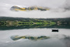 Floating (alexring) Tags: sky water oppstrynsvatnet sognogfjordane norway stryn flo mountain mist low clouds mirror boat mooring reflection lake moody view morning alexring nikon d750