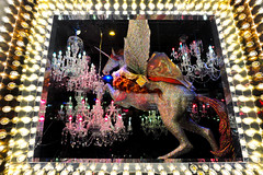Unicorn and Chandeliers (Eddie C3) Tags: newyorkcity manhattan holidaywindows windows storewindows christmas bloomingdales display christmas2016 unicorn lexingtonave