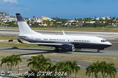 DSC_7603Pwm (T.O. Images) Tags: n500ls hayes production boeing 737 737700 bbj sxm st maarten princess juliana airport