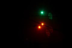 ...so finster die Nacht / ...the Night so dark (montagestaender) Tags: nebel fog night nacht train zug lowkey licht light pentax pentaxkx kx dark dunkel saarland sanktwendel schwarzer hintergrund green grün rot red colors farben