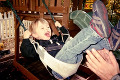 (the april fool) Tags: nephew swing playground babysitter joy adidas disposable film toddler october