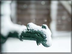 Finally snow and now a frozen pump (E-M1.de) Tags: bokeh lenstagger nokton snow voigtländer winter