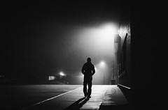 a walk into 2017 (L. Paul) Tags: bw blackandwhite nightphotography night fog foggy streetphotography street nighttime sonya6300 sony28f2 sony blackandwhitephoto blackandwhitephotography foggynight