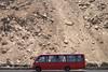 El Morro de Arica (Jacques Lebleu) Tags: cliff morro chile bus autobus red rojo acantilado arica rocks piedras arid