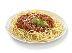 Spaghetti Bolognese with Basil Leaf (guiapopular) Tags: pasta spaghetti spaghettibolognese italiancuisine traditionallyitalian meal cheese parmesancheese tomatosauce bolognesesauce groundmeat mincedmeat herbs basil leaf garnish spice ingredients ham hefty cooked fastfood snack takeawayfood middaymeal food eveningmeal healthyeating isoliert clippingpath sauber freshness fat carb niemand upperdeckview lowangle photography colorimage white brown yellow orange red green crockery prop ceramic plate bowl singleobject studioshot focusonforeground horizontal bright plain neutral dinnerplate