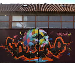 piros & bolero // 2017 (piros_online) Tags: piros graffiti street art streetart serbia srbija balcans balkan murals illustration freedom style walls 2016 collor fun sumer krusevac ps ohc modern world funky new video bicycle flying