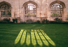 shadow and light (xelia mj) Tags: light shadow landscape architecture pentax film camera vintage retro cambridge uni university green grass sandstone kings king college parade city england uk gb britain europe eu color colour colorful colourful vibrant summer