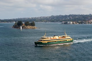 MV Queenscliff passing Shark Island