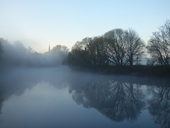 Misty (tobymeg) Tags: mist scotland trees water sky fog dumfries dmcfz72 panasonic nith