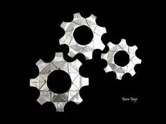Gear (Yara Yagi) Tags: origami paper papel gear engrenagem engranaje
