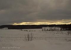 Sun and Cloud (D & E Grey Wolf Photography) Tags: sun cloud winter landscape farm rural my ontario