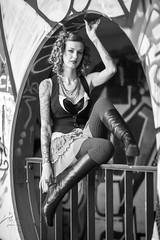 Charli Blake (Thomas Hawk) Tags: america bayarea california charli charliblake sf sanfrancisco treasureisland usa unitedstates unitedstatesofamerica westcoast abandoned bw graffiti fav10 fav25 fav50