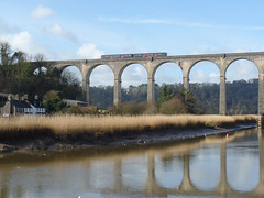 150108 Calstock Viaduct (5) (Marky7890) Tags: gwr 150108 class150 sprinter 2p84 calstock railway train cornwall calstockviaduct tamarvalleyline
