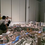 Stadtmodell von Singapur in der Singapore City Gallery