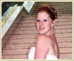 47border (TexasValerie) Tags: pink wedding portrait woman stairs hotel bride stairway redhead melody marble bridal
