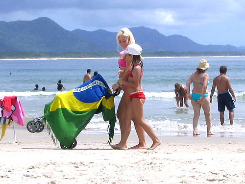 Con Brasil en la playa - With Brazil at the beach