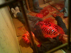 dinnertime (lmayer33) Tags: film wisconsin movie death scary blood kill meat madison gross slaughter gore disgusting horror murder yuck deviant disturbing bloody guts cannibalism violent bloodymess slasher ghoulish