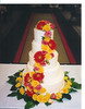 yellow wedding cake orange wedding cake photo