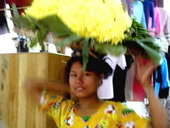 Mandalay - Flower Seller (Sam's Exotic Travels) Tags: people flower mall sam burma myanmar sams mandalay travelphotos samsays samsexotictravelphotos exotictravelphotos samsayscom