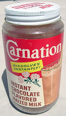 Carnation Chocolate Malted Milk, 1950's