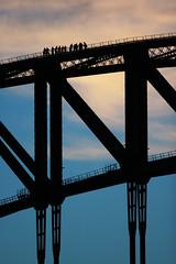 It's a Long Way to the Top (Xenedis) Tags: sydney bridge sydneyharbourbridge silhouette bridgeclimb dusk twilight newsouthwales nsw australia architecture fh