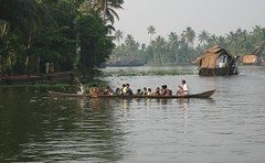off to school on the backwaters (drift33) Tags: india kerala alleppey keralabackwaters
