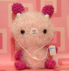 Amigurumi Pink Bunny Rabbit with Mp3 Player - by Amigurumi Kingdom