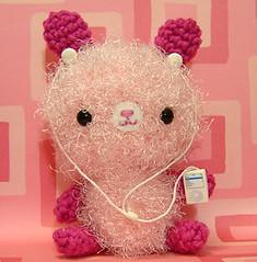 Amigurumi Pink Bunny Rabbit with Mp3 Player - by Amigurumi Kingdom