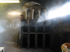 The cold kiln in the morning