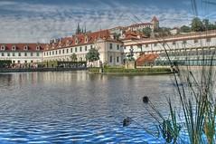 Dreaming again of Prague (cuellar) Tags: city blue 15fav topf25 topc25 topv111 architecture 1025fav 510fav wonder czech prague nikond70 praha praga 100v10f palace cuellar hdr palacio valdtejnskpalc