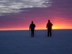 ski-ing into the sunset (nicolamrobinson) Tags: skiing antarctica halley winningphoto