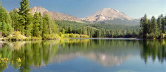Manzanita Lake at Lassen National Park (Oregon Hiker) Tags: california volcano nationalpark lassen chaoscrags manzanitalake lassenpeak